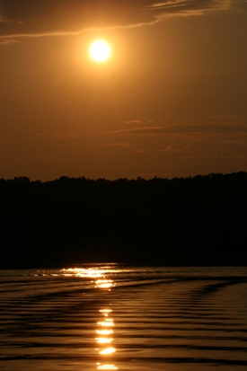Sunset on Lake Shelbyville